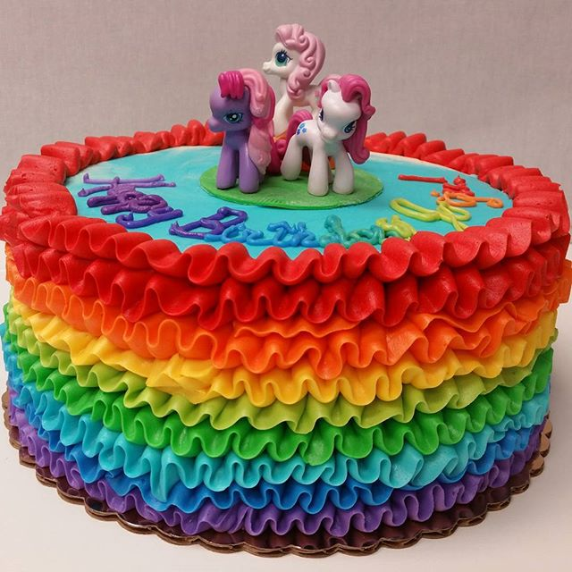 My Little Pony cake. I guess Rainbow Bright is coming back too, lol