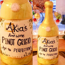 Yup, this is a cake too! _#haveyourwineandeatittoo _#customlabel _#yourveryownbrandofyummy