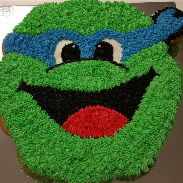 Ninja turtle cupcake cake from last week