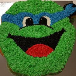 Ninja turtle cupcake cake from last week