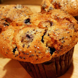 _NEW_ Blueberry Chia mufffins! _Celebrate new beginnings with our new super food muffins!_Blueberry