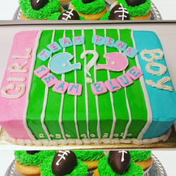 Superbowl Sunday included a baby gender reveal cake request