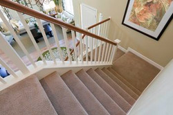 Custom Wrapped Steps with Carpet
