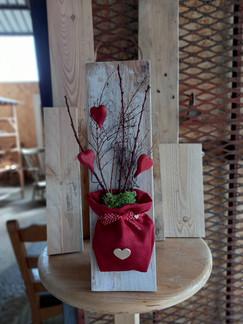 legno e fiori
