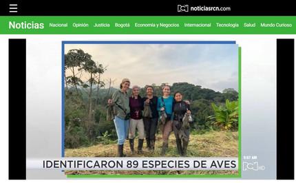 El canal RCN y su programa ClickVerde reportaron sobre nuestra expedición femenina