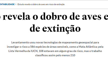 Brazilian newspaper O Estado de São Paulo covers our Science Advances paper