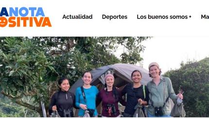La página La Nota Positiva cubrió la expedición femenina para estudiar aves