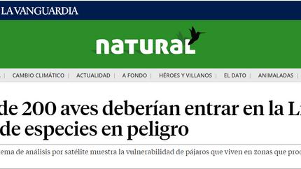 Spanish newspaper La Vanguardia on our Science Advances paper