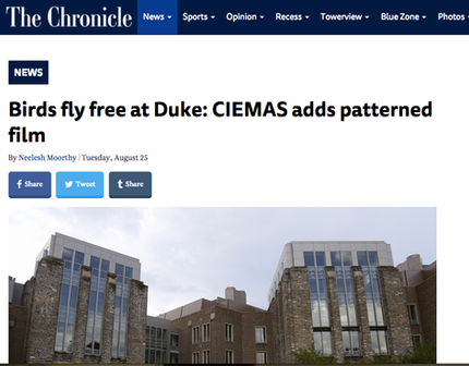 The Chronicle writes about bird deterrence at CIEMAS
