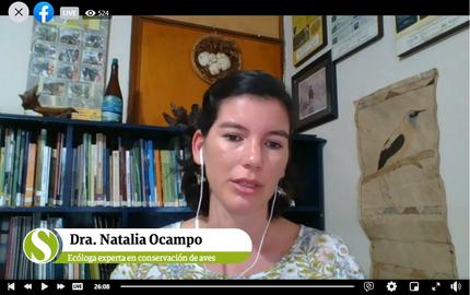 Hablando sobre aves migratorias en Encuentro Sostenible, de Semana Sostenible