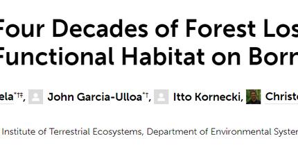 New paper on vertebrate functional habitat in Borneo