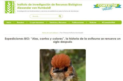 """Lanzamiento del proyecto """"Expediciones BIO Alas, cantos y colores"""""""