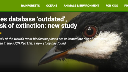 Mongabay reports on our Science Advances paper