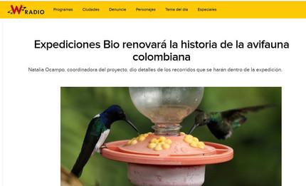 """Entrevista en radio la W sobre """"Expediciones BIO Alas, cantos y colores"""""""