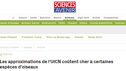 Article in French about our Science Advances paper