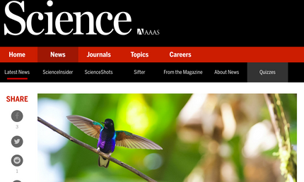 Science Magazine reports on our Science Advances paper
