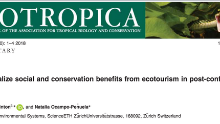 New commentary on ecotourism in post-conflict contexts