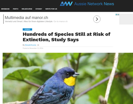 Aussie Network News covers our Science Advances paper