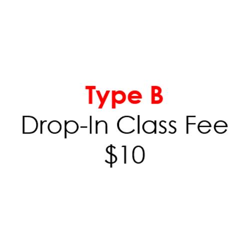 Type B - Drop-In Class Fee