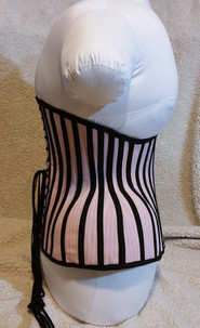 Custom pink and black underbust corset B
