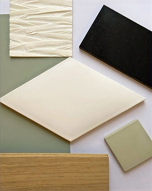 matériaux, préparation, décoration, architecture intérieure, bleu rêve, stéphanie rainaut