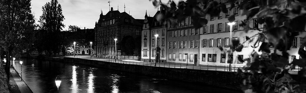 Jean-Baptiste Nore - Collection Noir & Blanc : Le Rhin Strasbourg