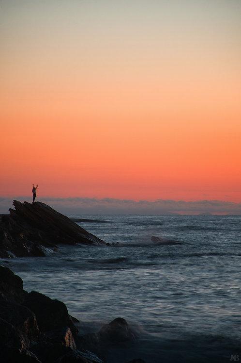 Sunset à Guéthary
