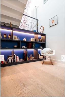Projet suresnes, bleu rêve, stéphanie rainaut, architecture intérieure, décoration
