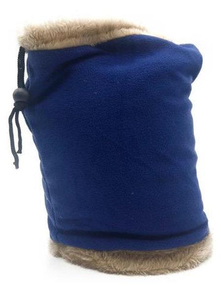 Cuello con piel azul liso