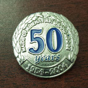 50th Anniversary Pin - Silver