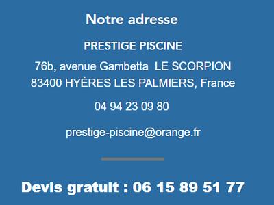 Contacter Prestige Piscine Var