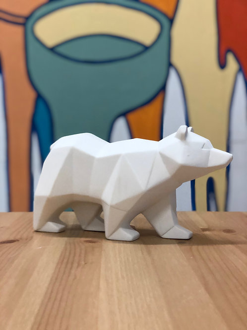 Large, Faceted Bear Statue