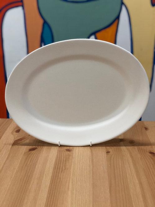 39cm Rimmed Oval Platter