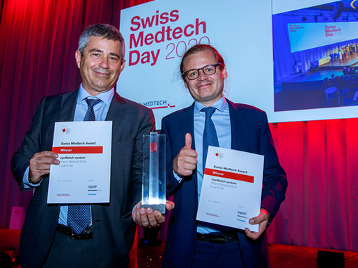 Excited and honored! Rheon Medical receives the 2020 Swiss Medtech award!