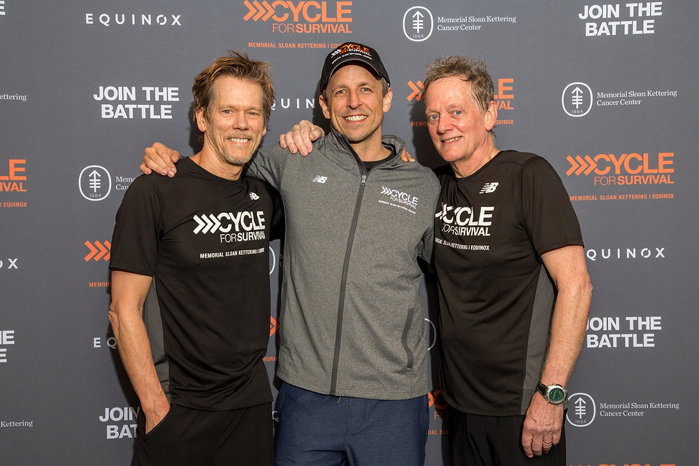 Kevin Bacon and Michael Bacon at Cycle For Survival.