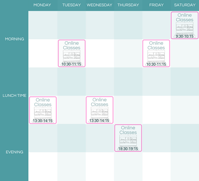 Online Class Timetable only July 2020.pn