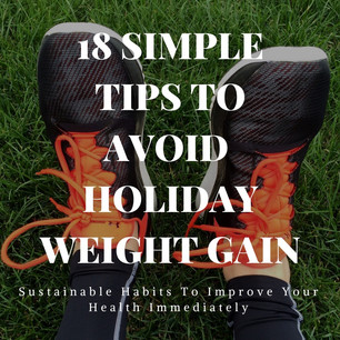 18 TIPS TO AVOID HOLIDAY WEIGHT GAIN!