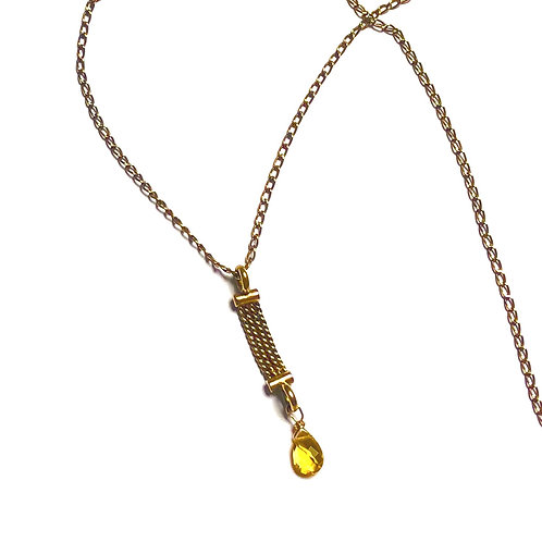 Tiny Watch Fob Necklace