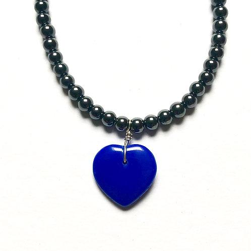True Blue Hematite Necklace