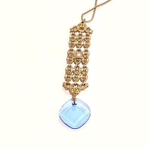 Ornate Fob with Blue Swarovski Crystal WHSL