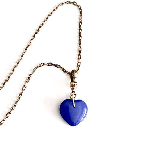 True Blue Charm and Chain