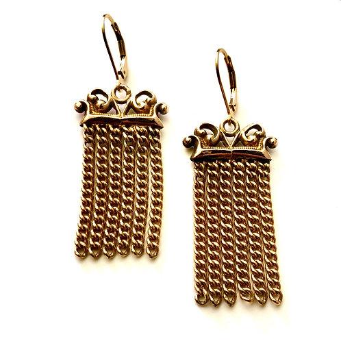 Dangly Watch Fob Earrings