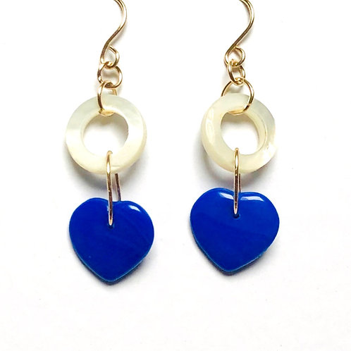 True Blue Mother of Pearl Earrings