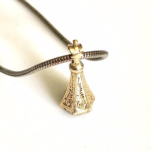 Victorian Charm on Sterling Chain