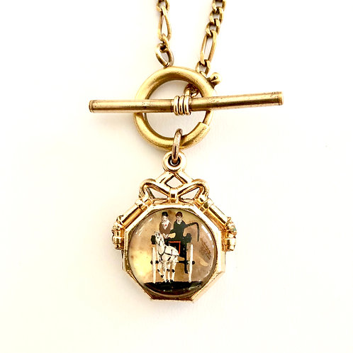 Horse & Buggy Charm Necklace