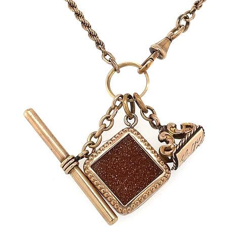 Goldstone Charm Necklace