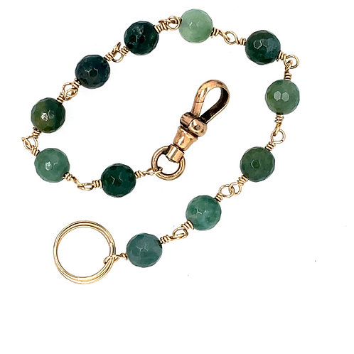 Antique Watch Clip and Agate Bracelet