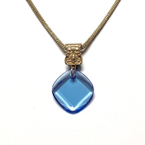 Victorian Vest Clip with Blue Swarovski Crystal WHSL