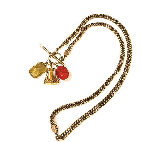 Antique Seal Charm Necklace