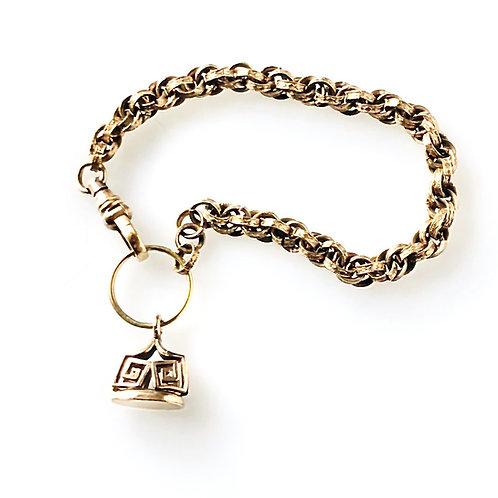 Wax Seal Charm Bracelet
